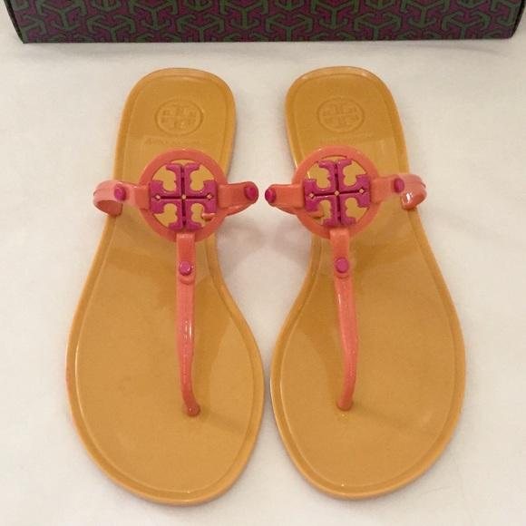 6e94219249b409 NIB✨Tory Burch Mini Miller Jelly Sandals